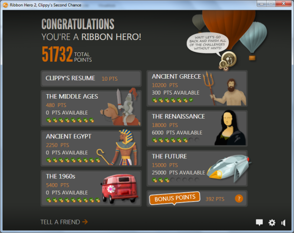 I successfully completed Ribbon Hero 2
